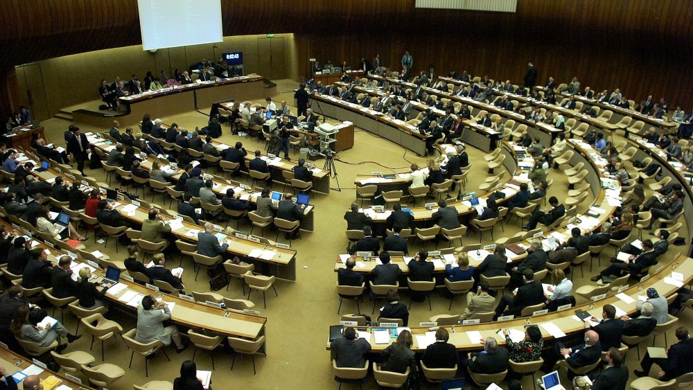 A general view of the Human Rights Council (KEYSTONE/Sandro Campardo)