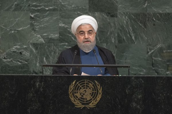 At General Assembly, Iran's President denounces those seeking to rip apart nuclear pact